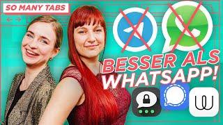 BESTE WhatsApp Alternative: Signal, Threema, Wire \u0026 Telegram im Vergleich