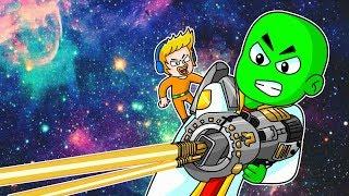 Somos Los Guardianukis De La Galaxia Salvamos El Espacio En El Mundo De Plastilina De Minecraft
