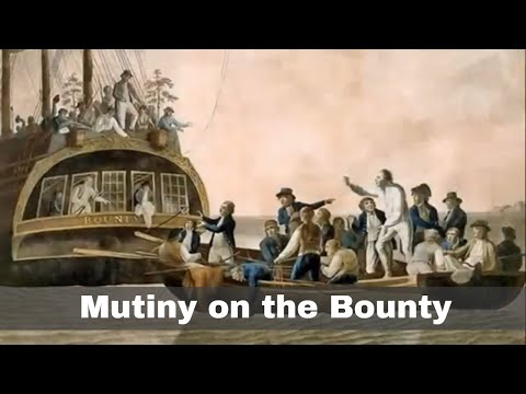 28th April 1789: The crew of HMS Bounty launch a mutiny against Captain William Bligh
