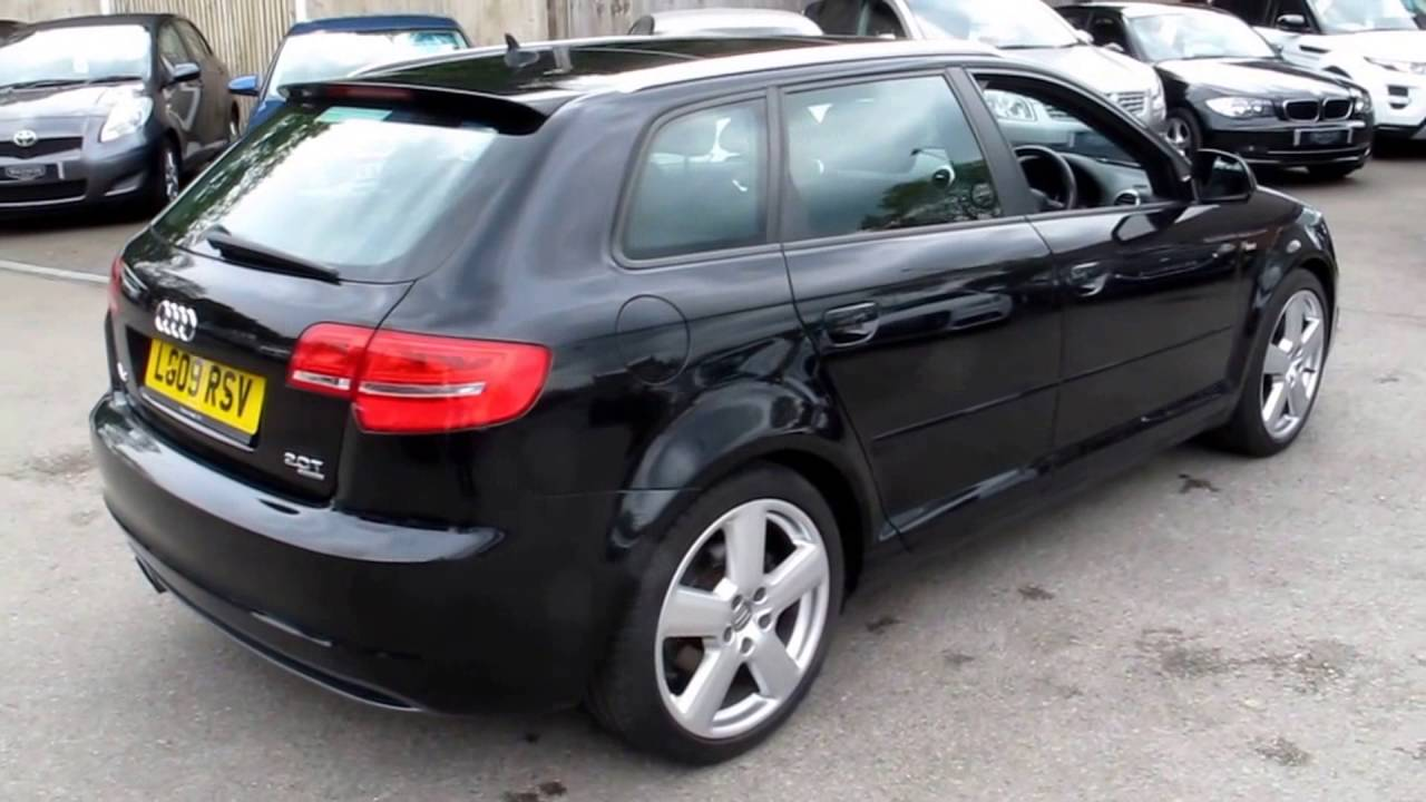 2009 09 audi a3 2 0 tfsi quattro s line 5d auto 197 bhp youtube. Black Bedroom Furniture Sets. Home Design Ideas