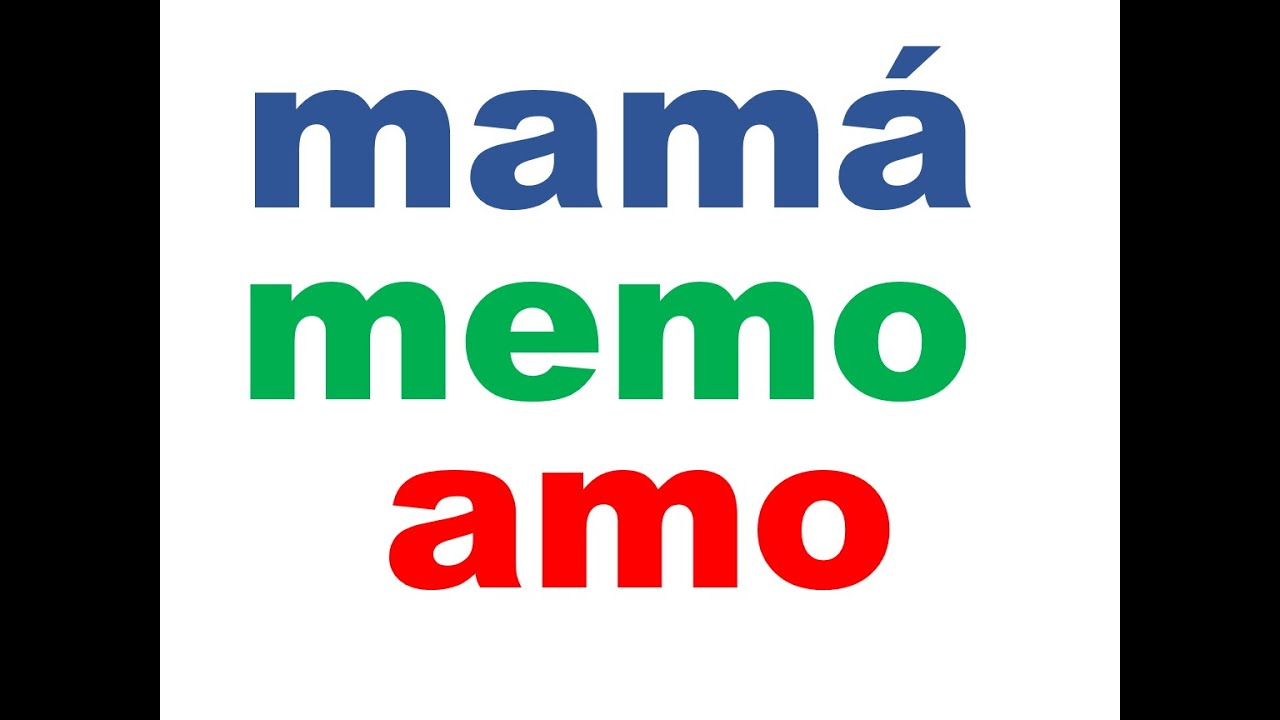 Palabras Con Ma Me Mi Mo Mu