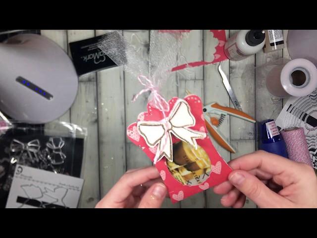 Hinged tag and Alina Bow stamp TUTORIAL