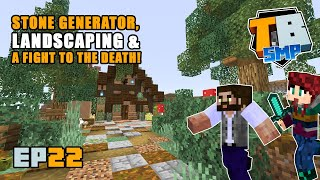 STONE GENERATOR & A fight to the death!! | Truly Bedrock Season 2 [22] | Minecraft Bedrock