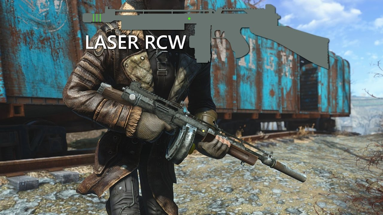 The Laser RCW - An Energy Submachine Gun from New Vegas