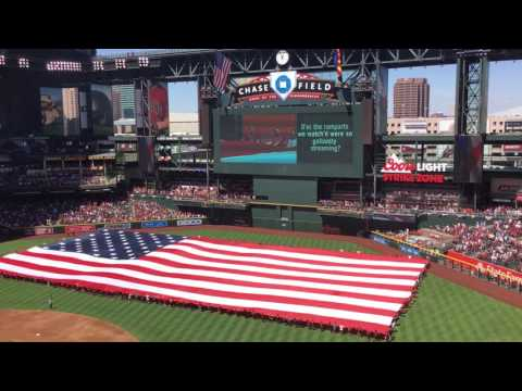 Opening ceremony for 2017 Arizona Diamondbacks home opener