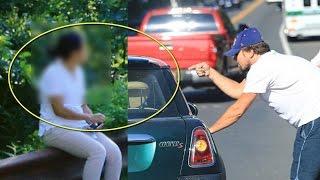 Increible reacción de Leonardo DiCaprio cuando una mujer mexicana lo choca