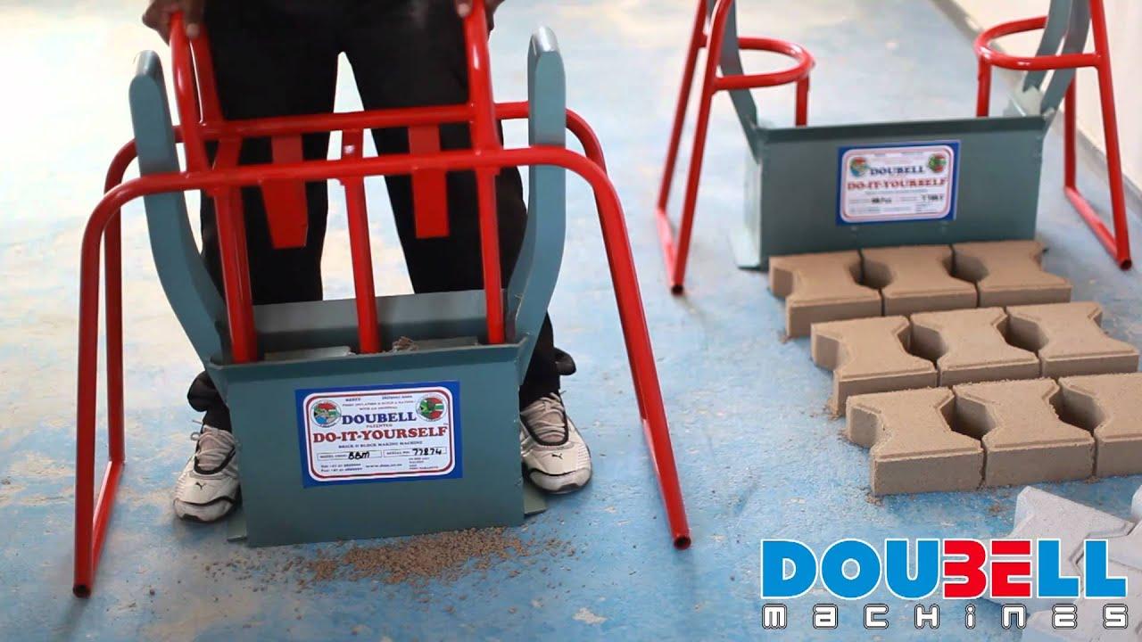 Doubell machines diy m6 block making machine youtube doubell machines diy m6 block making machine solutioingenieria Gallery