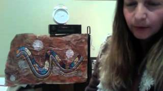 Red Earth Rainbow Serpent Artwork by Mirree