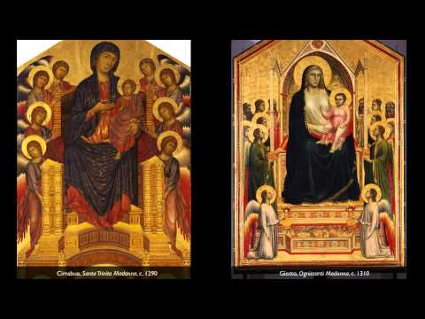 Cimabue, Santa Trinita Madonna & Giotto's Ognissanti Madonna
