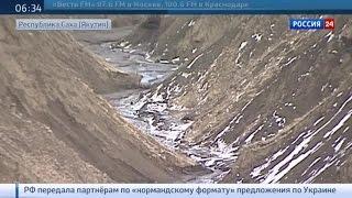 Батагайский разлом: в Якутии изучают вечную мерзлоту