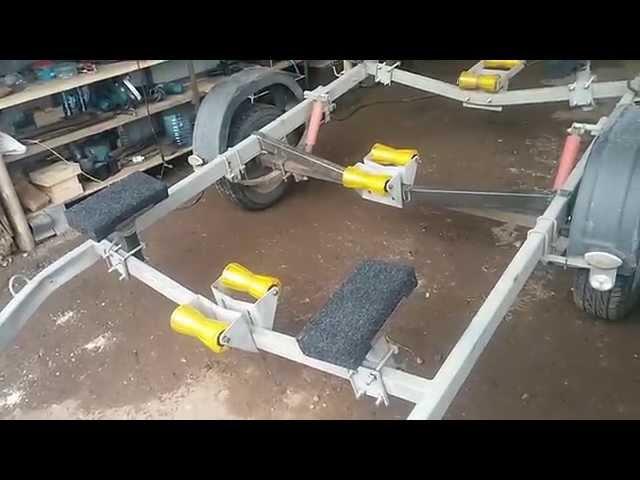 ролики к прицепа лодки своими руками