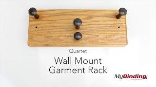 Quartet Wall Mount Garment Rack