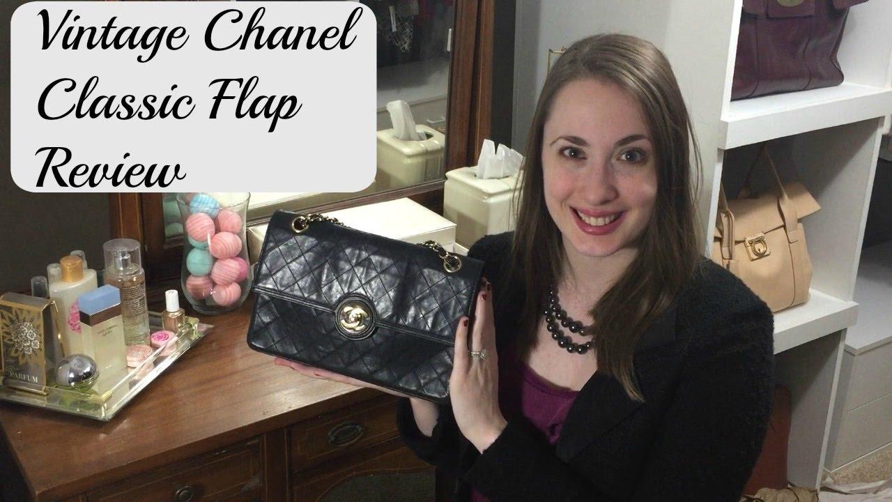 f0b7ec6e92d38d Vintage CHANEL classic single flap bag review - YouTube