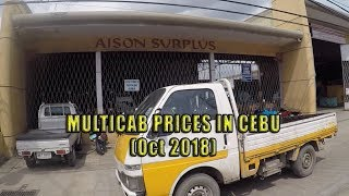 Multicab Prices in Cebu (Oct 2018)