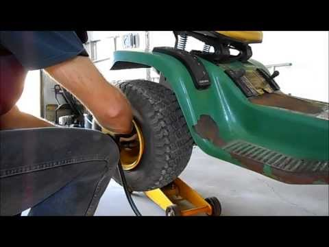 Removing Rusted Lawn Tractor Tire From Axle Doovi