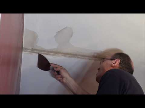 How to fix ceiling after water damage. Как исправить потёк в потолке