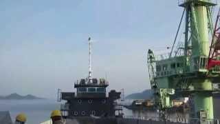 内航貨物船・松浦新船型 「ひろしま」 レーダーマスト製作~搭載(53)