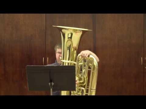 2016-2017 WVMEA All-State Tuba Etude: Bordogni #14 (George Palton, Tuba)