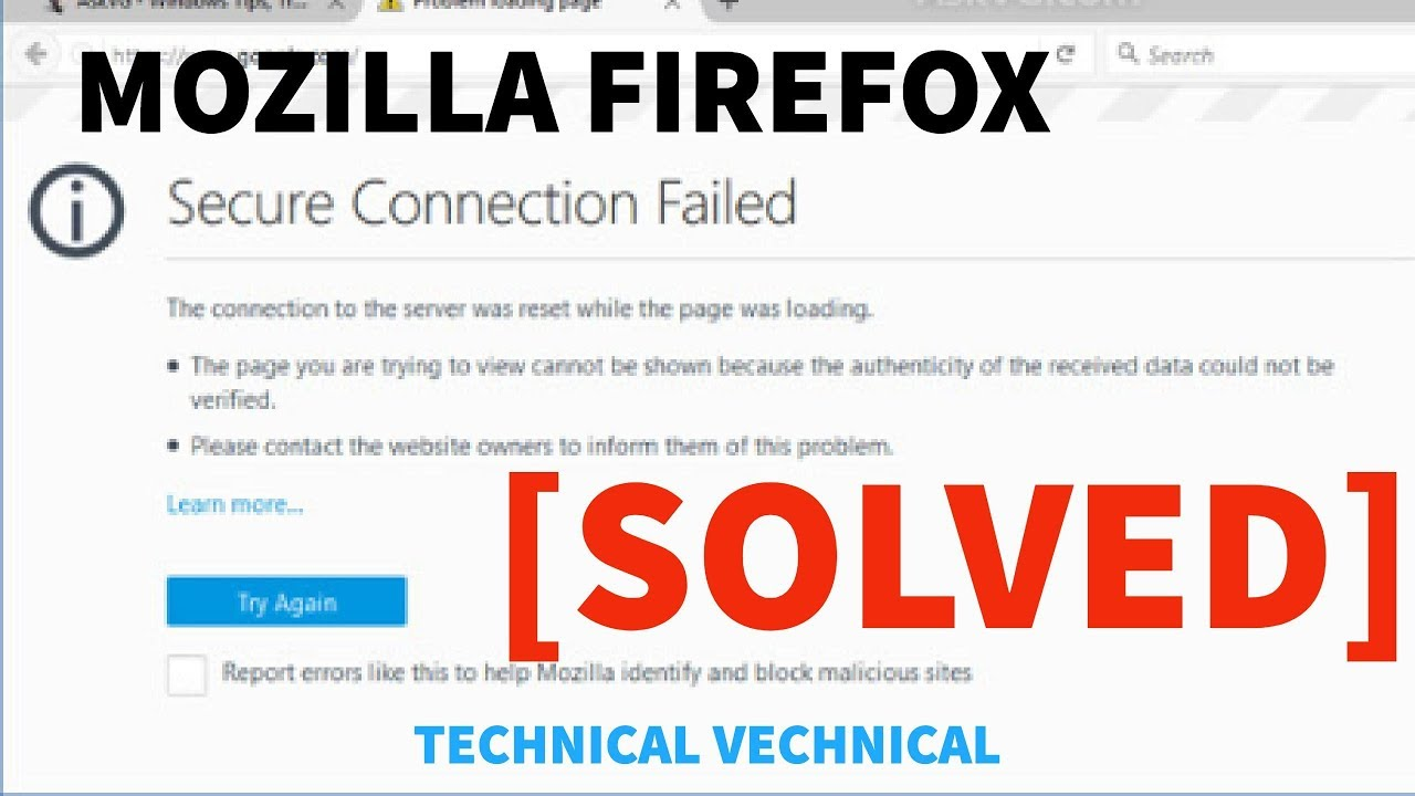 How to Fix SSL Connection Error on Mozilla Firefox
