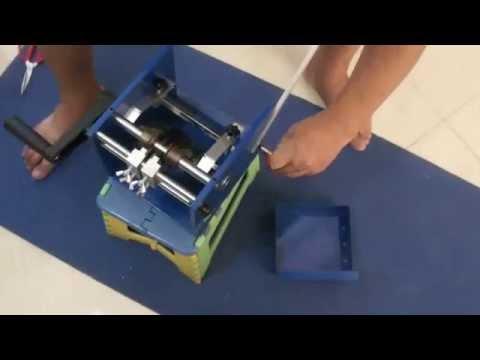 Manual U Type Resistor Axial Lead Bend Cut & Form Machine