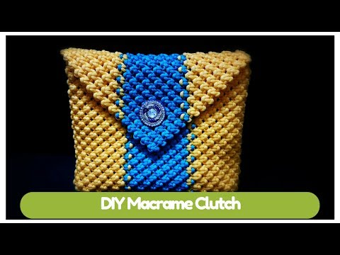 DIY Macrame clutch (design -2) | Macrame Art tutorial in hindi | simple and easy handmade purse