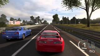 forza motorsport 5 toyota supra rz vs nissan skyline r34 gt r v spec ii