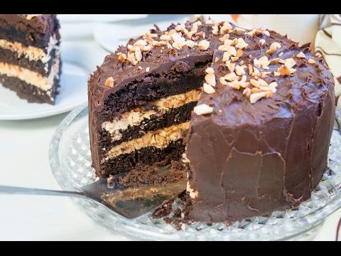Шоколадно карамельный торт
