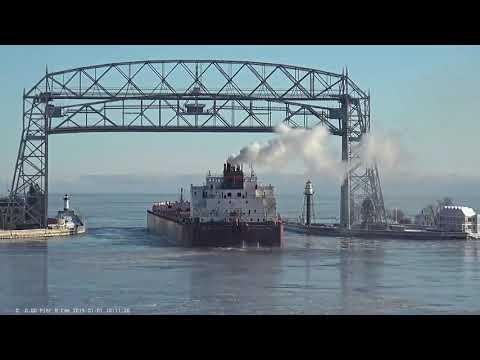 Mesabi Miner departed Duluth 01/01/2019