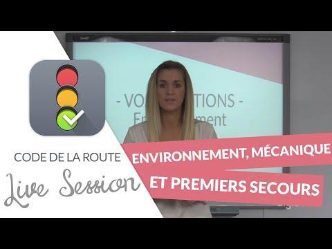 Code de la Route : Environnement, Mécanique et Premiers Secours en LIVE ! (21 septembre 2017)
