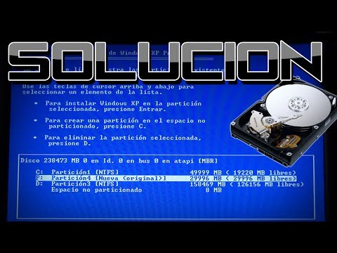 "Problema al Instalar Windows XP [No Detecta Disco Duro] ""Solucion"""
