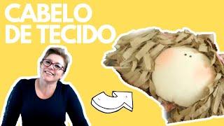 Como Fazer Cabelo De Tecido para Boneca de Pano Fácil por Adriana Schutz