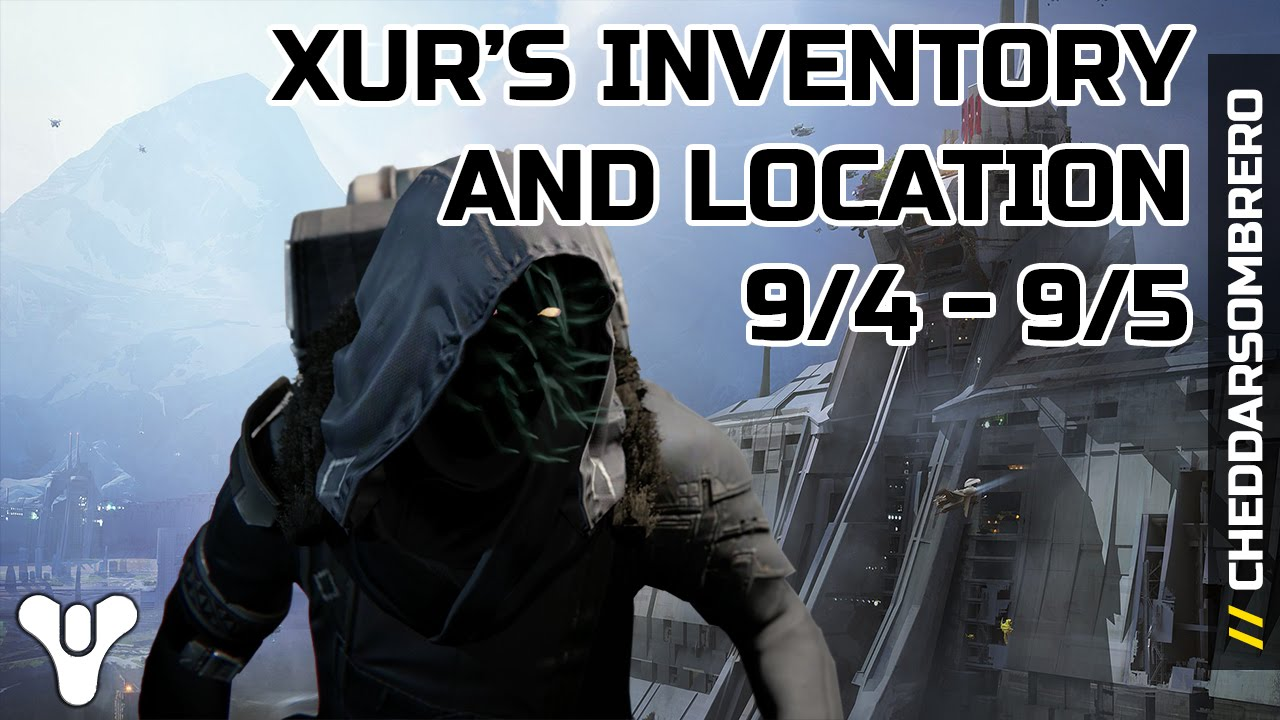 Destiny xur s location and inventory september 4th 2015 9 4 9 5