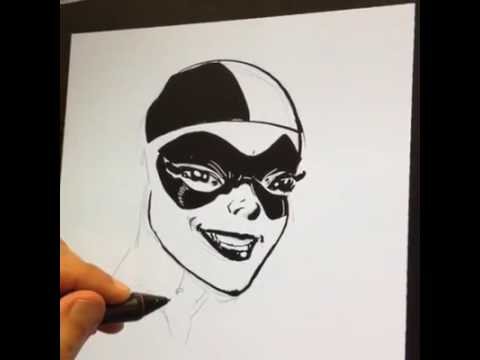 Live Drawing of Harley Quinn