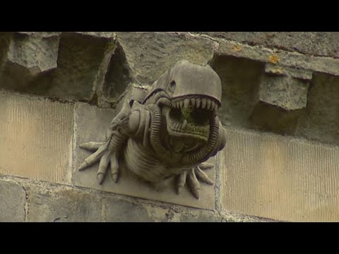 Why is the Creature from 'Alien' on a 12th century Abbey?