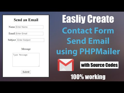 Create A PHP Send Email Contact Form -  Using PHPMailer - Step By Step