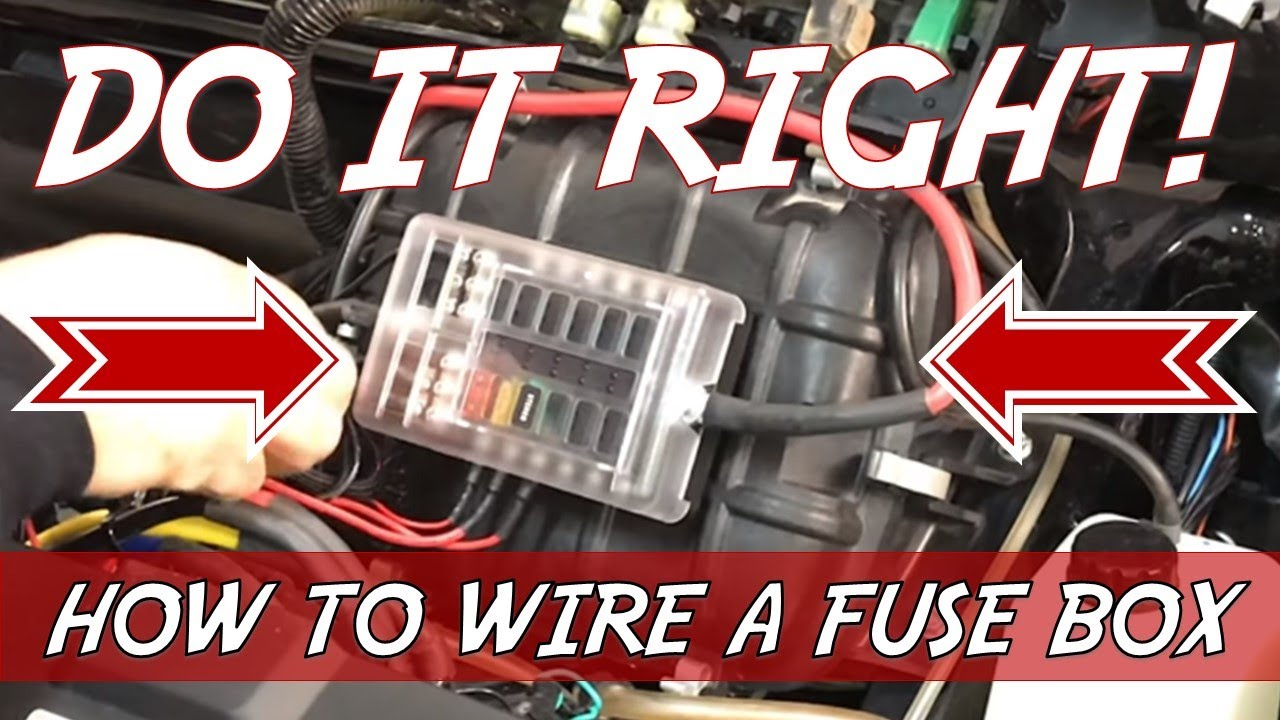 how to wire utv accessories - installing a fuse box - youtube  youtube