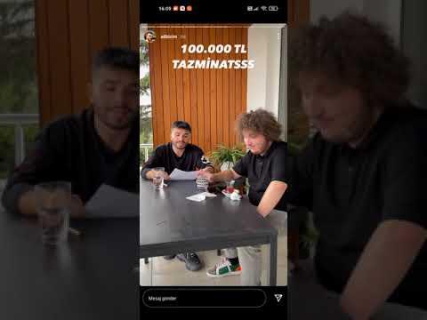 Ali Biçim Mesut Can Tomay a Yeni Sözleşme İmzalatıyor