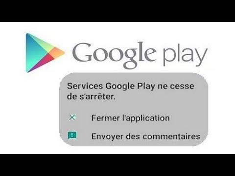 Services Google Play Ne Cesse De S'arrêter