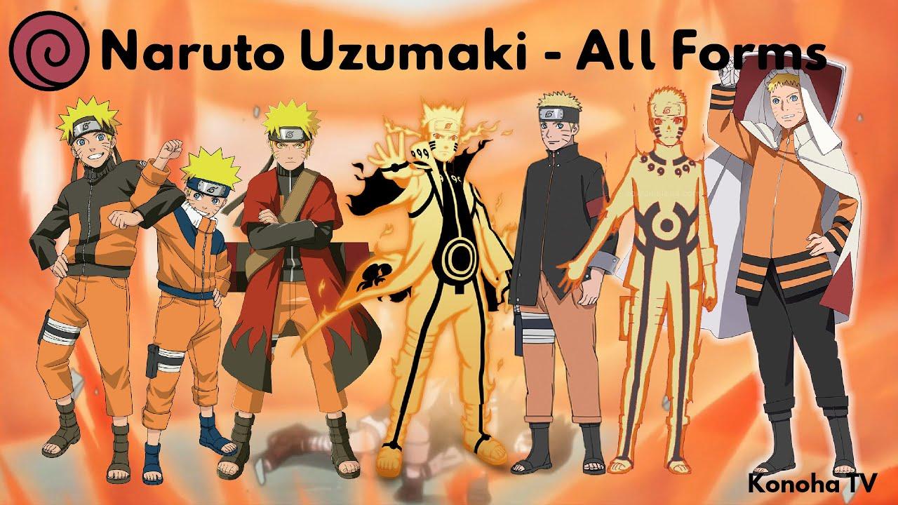 Naruto uzumaki all forms character growth youtube - All naruto characters ...