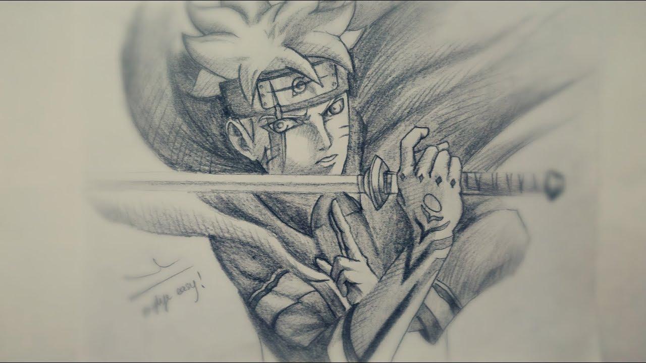 Học vẽ Boruto (Naruto the Next Generations) || DRAW BORUTO, TUTORIAL STEP BY STEP WITH PENCIL!!!