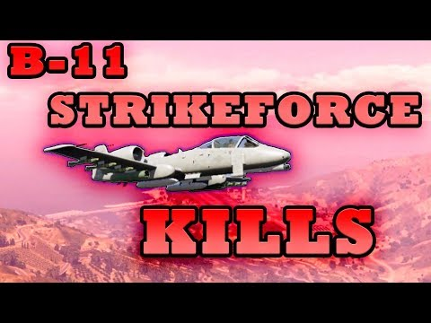 GTA 5 Online B-11 Strikeforce (A-10 Warthog) Kill Compilation