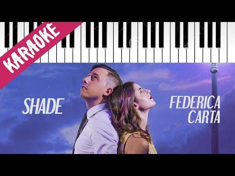 Shade feat. Federica | Irraggiungibile // Piano Karaoke con Testo