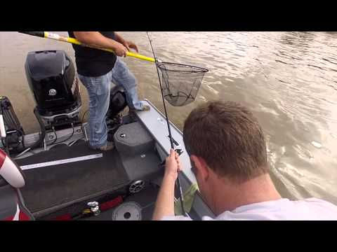 Cat fishing on Manitoba's Red River