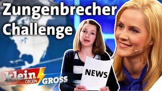 Tagesschau-Sprecherin Judith Rakers vs. Lea (13): Wer liest schneller vor?   Klein gegen Groß
