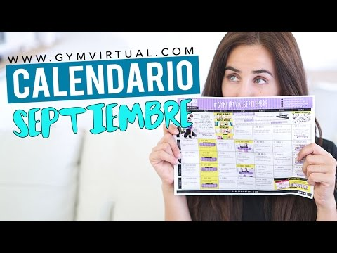 Calendario Septiembre Gymvirtual.Presentacion Calendario De Entrenamiento Septiembre