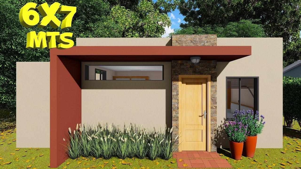 Download Plano de casa de 6x7 metros con 2 dormitorios