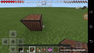 ~Minecraft Tutorial~ Cara Membuat Piano Di ~Minecraft Pocket Edition~