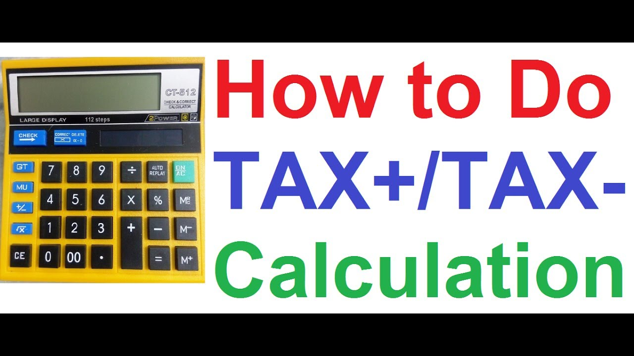 Ct Car Tax Calculator >> How To Calculate Tax On Normal Non Financial Calculator Goods Services Tax Gst Input Tax Credit