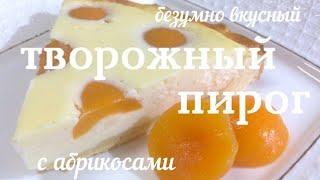 Безумно вкусный творожный пирог с абрикосами