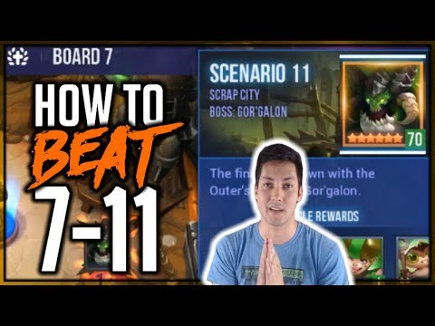 FASTEST WAY TO COMPLETE BOARD 7 SCENARIO 11  (7-11) | Dungeon Hunter Champions